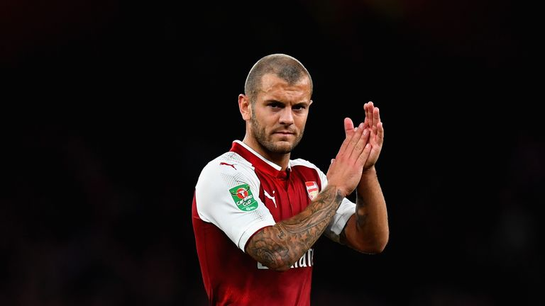 Jack Wilshere started his first Arsenal game since May 2016
