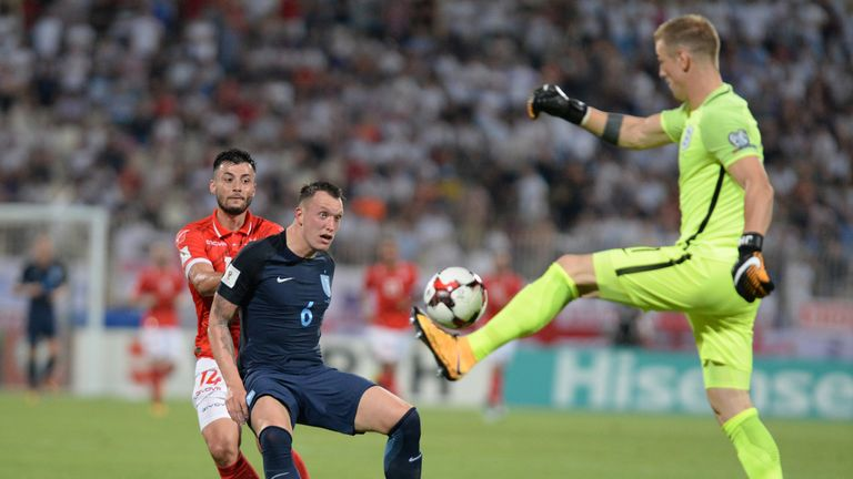 Hart helped England defeat Malta in a World Cup Qualifier on Friday