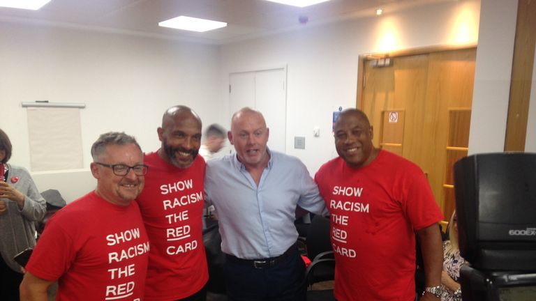SRtRC chief exec Ged Grebby is joined by Curtis Fleming, Perry Groves and John Barnes at the event launch