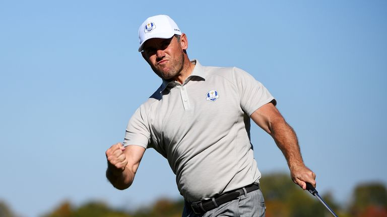Lee Westwood is one short of matching Nick Faldo's record number of appearances