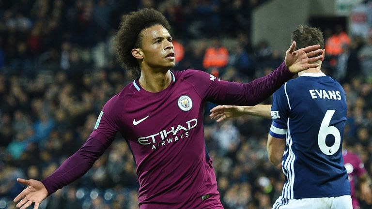 Leroy Sane was in form at The Hawthorns scoring twice