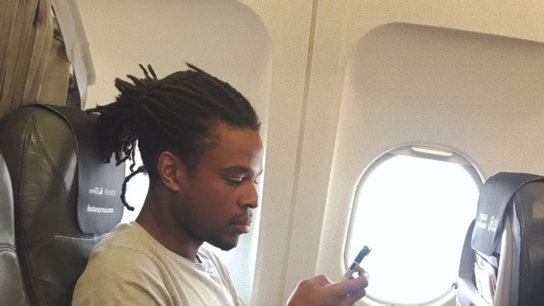 Remy on his flight from London to Gran Canaria on Friday night