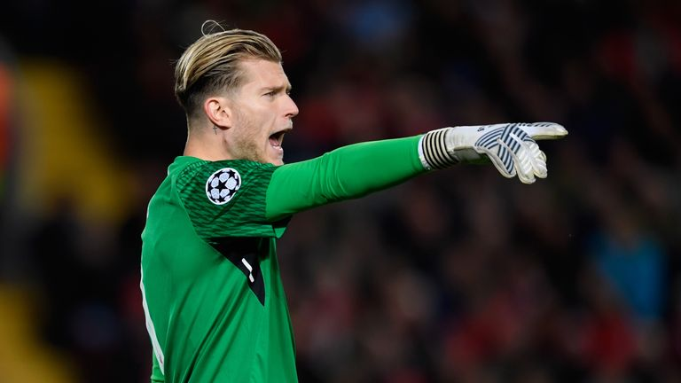 Karius in Champions League action