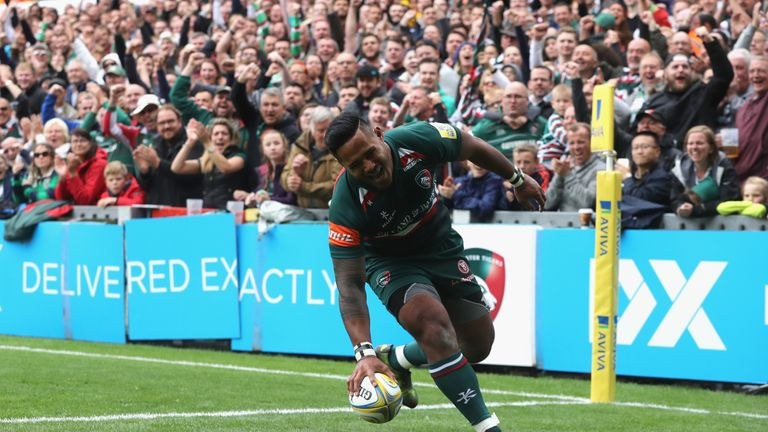 Manu Tuilagi marked his return to Tigers colours with a try