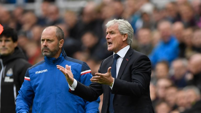 Mark Hughes says Stoke are defensively stronger this week