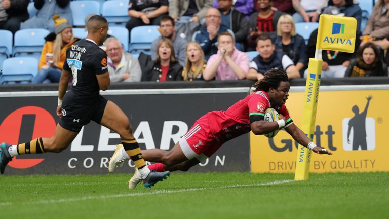 Yarde joined Sale this week after falling out of favour at Quins