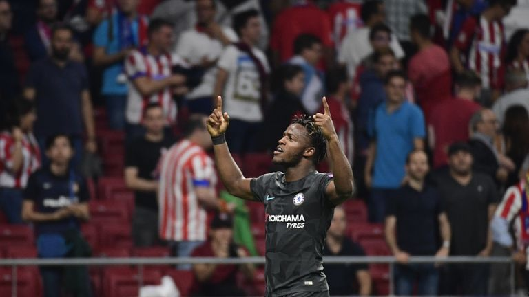 Michy Batshuayi is the only recognised, fully-fit striker left at Chelsea
