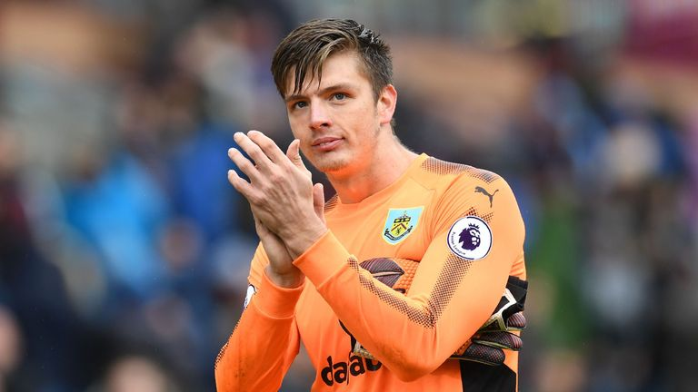 Nick Pope says there is no rivalry with fellow Burnley goalkeeper Tom Heaton