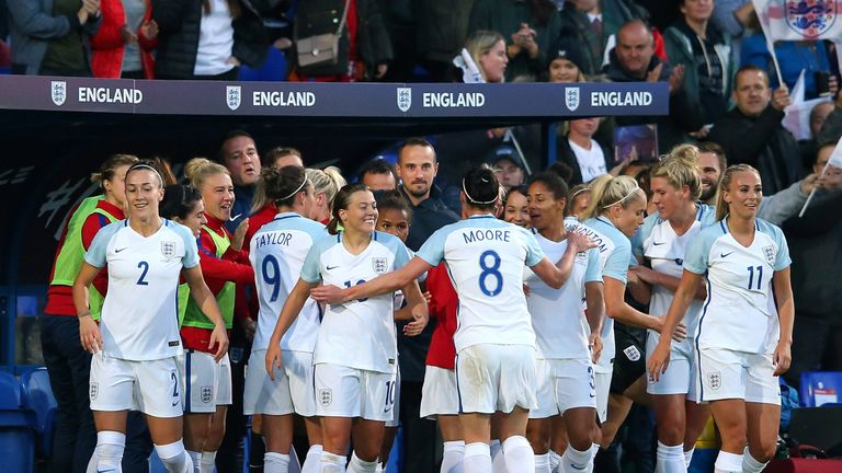 Mark Sampson's last match in charge of England was their 6-0 win over Russia