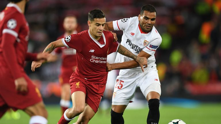Sevilla held Liverpool to a 2-2 draw at Anfield