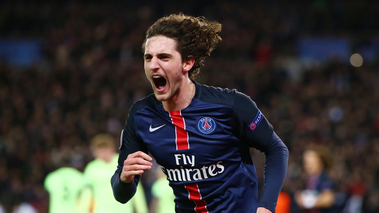 Adrien Rabiot of Paris Saint-Germain has been linked with a move away