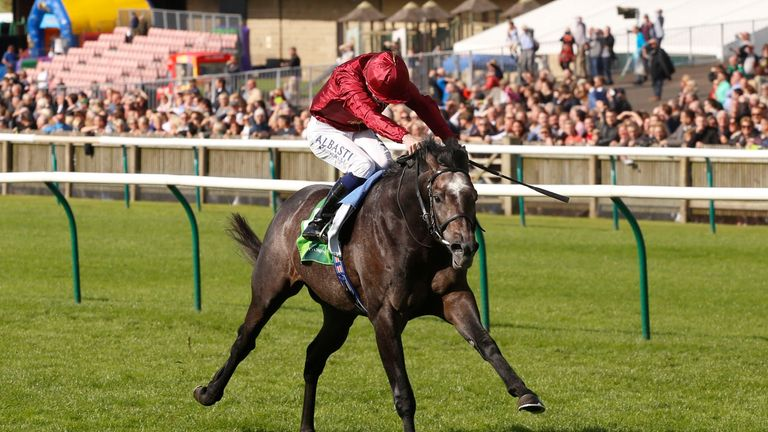 Roaring Lion wins the Juddmonte Royal Lodge Stakes