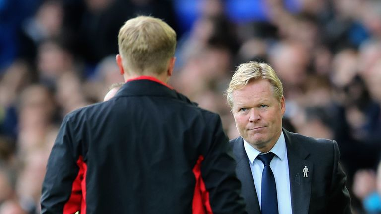 Ronald Koeman has admitted he is concerned with his team