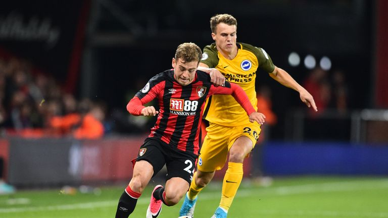 Bournemouth winger Ryan Fraser is the shortest player in the Premier League