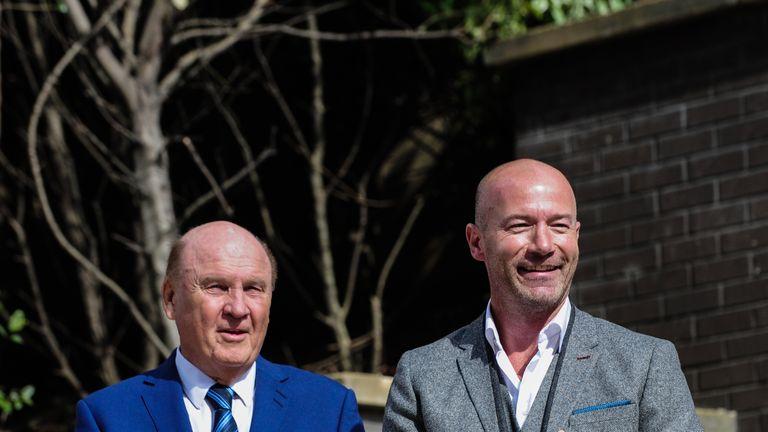 Alan Shearer with Shepherd