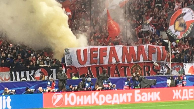 Spartak have also been charged over the use of illicit banners, chants and fireworks during the 1-1 draw with Liverpool in the Champions League