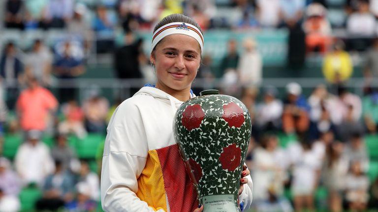 Jelena Ostapenko defeated Beatriz Haddad Maia of Brazil to claim the Korea Open title
