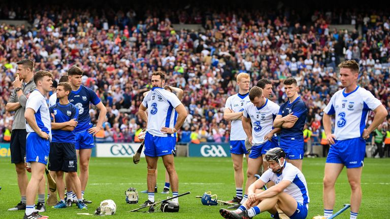 Waterford players dejected after the match