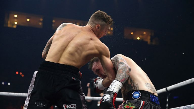 Zach Parker set up a British title challenge by beating Luke Blackledge