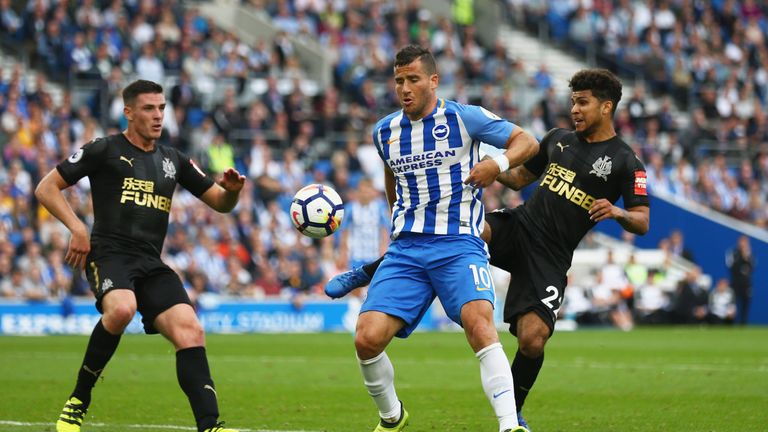 Tomer Hemed was Brighton's match-winner against Newcastle