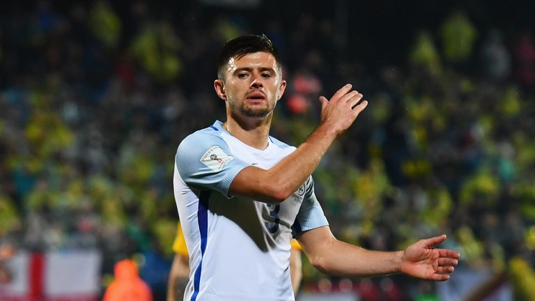 Aaron Cresswell started for England against Lithuania on Sunday