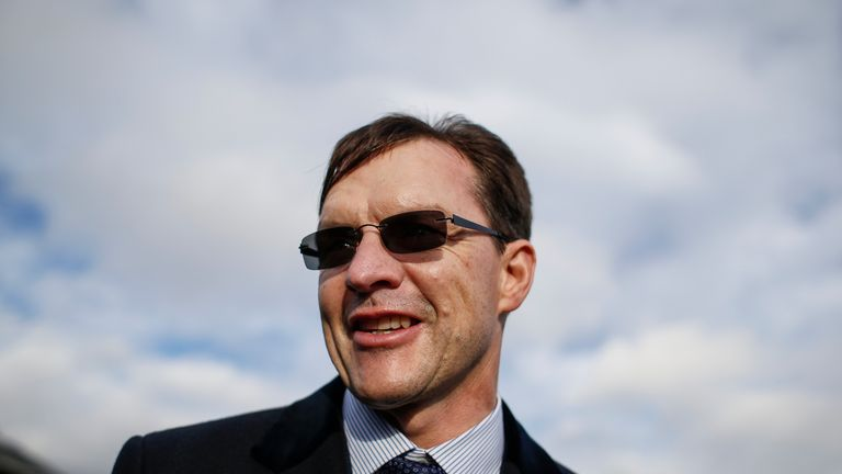 Aidan O'Brien pictured at Doncaster