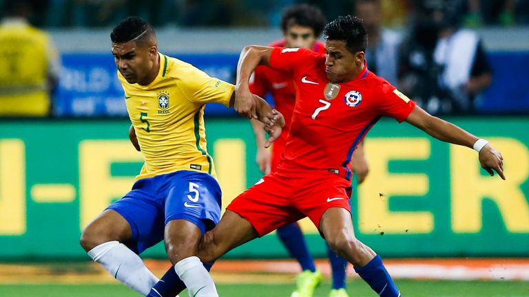 Chile lost 3-0 to Brazil on Tuesday