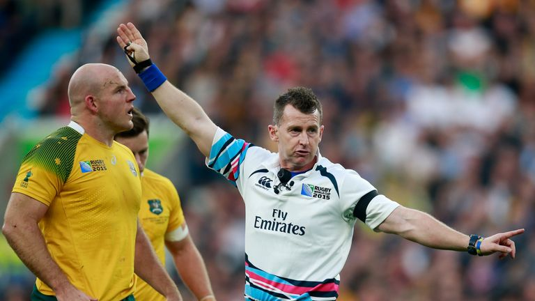 Owens took charge of the 2015 Rugby World Cup final when New Zealand beat Australia