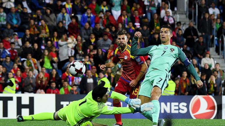 Ronaldo pokes in Portugal's first goal