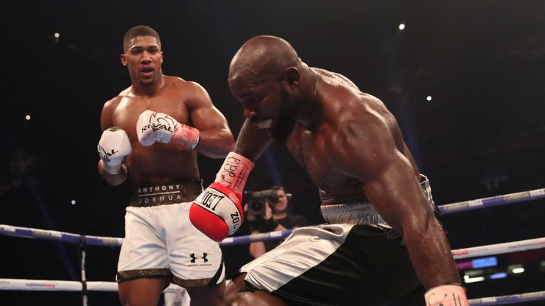 Joshua stopped Takam at the Principality Stadium in October