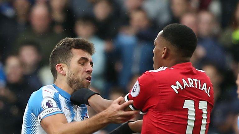 Anthony Martial lets his frustration boil over against Huddersfield