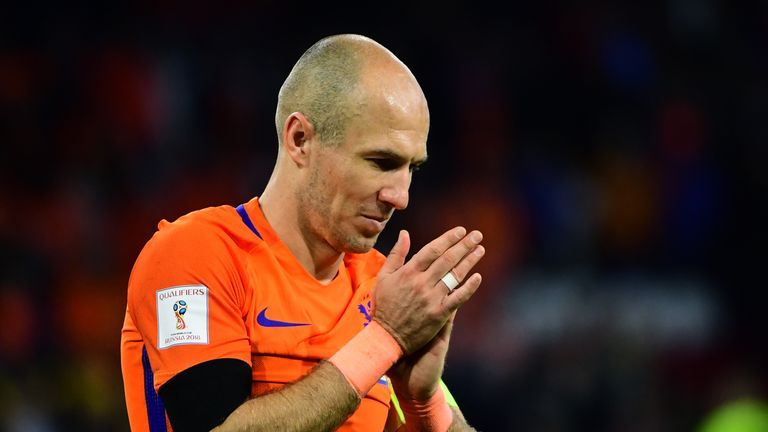 Netherlands' Arjen Robben retired from international duty earlier this month