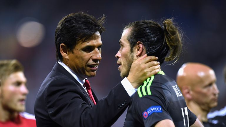 Chris Coleman (left) led Wales to the semi finals at Euro 2016