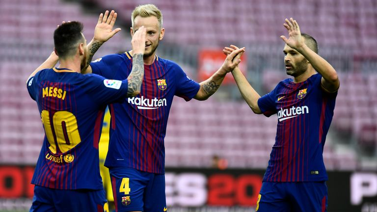 Barcelona beat Las Palmas 3-0 on a controversial day in Spain