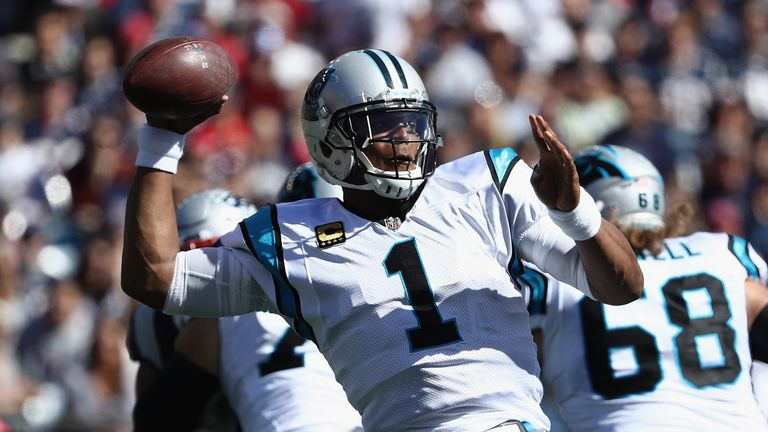Cam Newton was asked by a female reporter about the routes receiver Devin Funchess had been making