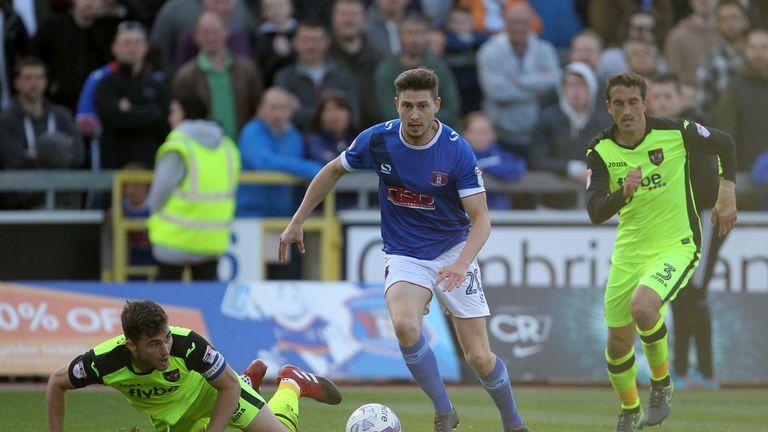 Carlisle striker Shaun Miller must serve a two-match ban