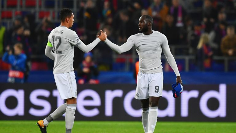 Romelu Lukaku (right) has made a goal scoring start to his Manchester United career