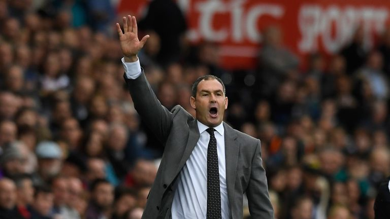 Swansea manager Paul Clement was a happy man after the win over Huddersfield