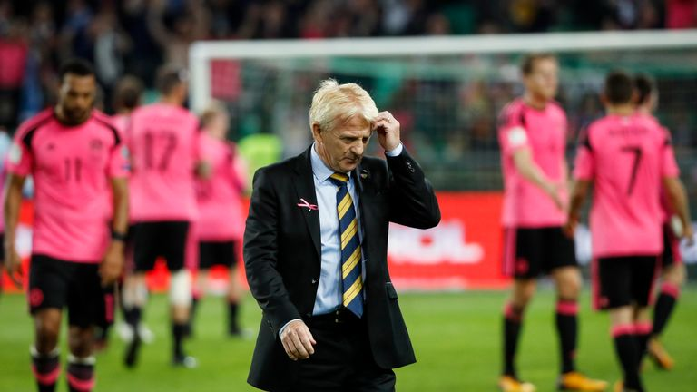 Gordon Strachan stepped down from his role as Scotland manager following the 2-2 draw with Slovenia