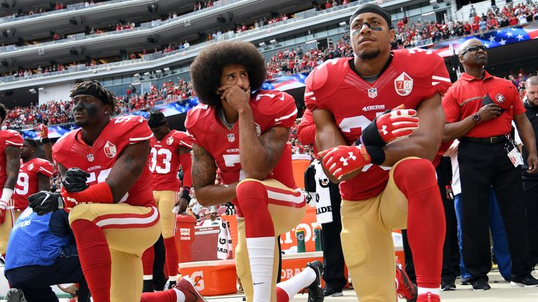 Colin Kaepernick began the NFL's kneeling protest during the 2016 preseason