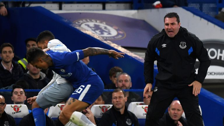 David Unsworth has been placed in temporary charge of the Toffees