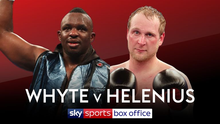 Dillian Whyte battles Robert Helenius on October 28, live on Sky Sports Box Office