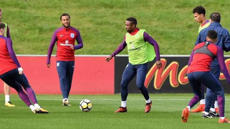 England go through their paces ahead of Thursday's clash with Slovenia