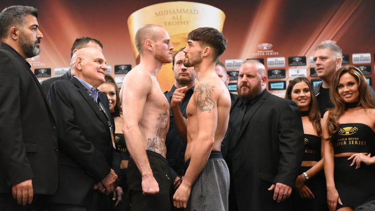 George Groves and Jamie Cox both make weight (pic: World Boxing Super Series)