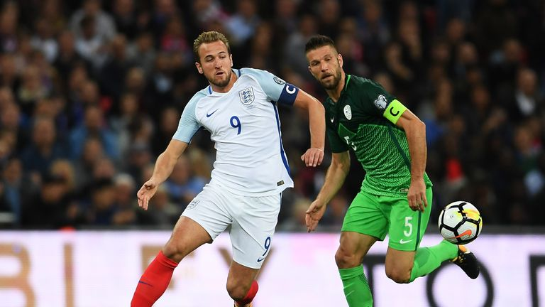 Kane captained England against Slovenia