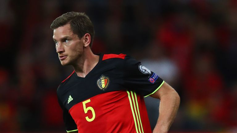 Jan Vertonghen could become the most-capped Belgium player of all time this weekend