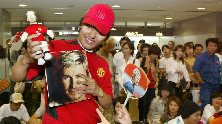 David Beckham is still a star attraction in Japan