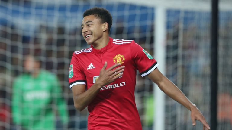 Jesse Lingard scored two goals for Manchester United against Swansea