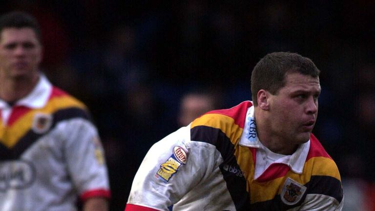 Bradford's Jimmy Lowes had to be restrained come the end of the match after Joynt's actions