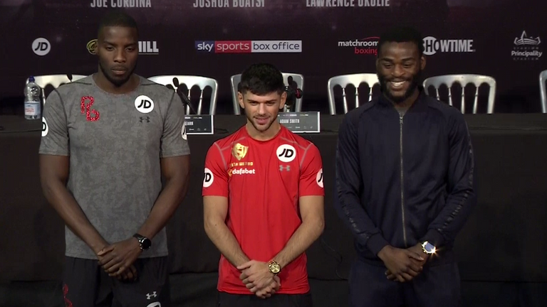 Lawrence Okolie, Joe Cordina and Joshua Buatsi are in the paid ranks